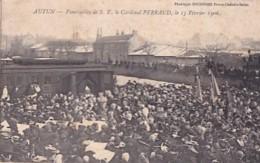 AUTUN      FUNERAILLES DE S.E. LE CARDINAL PERRAUD . 15 02 1906 - Autun
