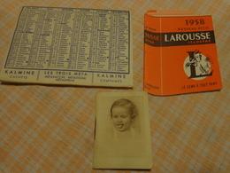 Lot De Petits Calendriers Publicite 1954-1950-1958-larousse-le Fouille Rochefort-laboratoire Paul Metadier - Autres