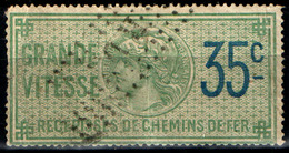 France Fiscal Récipicé Chemin De Fer  RC1 Oblitéré (1891) - Fiscaux