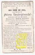 DP Helena VandenPlassche ° Veurne 1879 † 1919 X Camille Bekaert - Images Religieuses