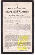 DP Octave L. VandePlas ° Menen 1887 † Sterrebeek 1918 X Emma Malfait - Images Religieuses