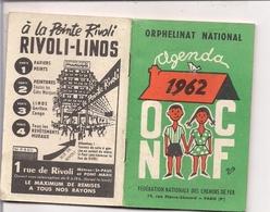 Calendrier Agenda  ORPHELINAT NATIONAL 1962 - Illustration BIG - Calendriers
