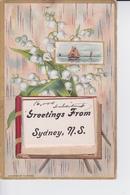"""Bouquet De Muguet En Relief Et 10 Vues En """"accordeon Sur La Ville """" :  Greetings From Sydney , N.S. - Cape Breton"""