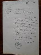 Lettre Ancienne. Algérie. Gouraya. Le Maire De La Commune. 1914 - Historical Documents