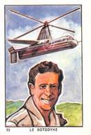 PIE-T-19-945 : CHOCOLAT FONDANT ET A CROQUER. COOP. VOYAGES INTERPLANETAIRES.LE ROTODYNE. PILOTE GELLATY. HELICOPTERE - Chromos