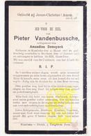 DP Pieter VandenBussche ° Rumbeke 1865 † Beitem 1917 X Amandina DeMuynck / Roeselare - Images Religieuses