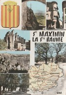 SAINT-MAXIMIN-LA-SAINTE-BAUME (83). Souvenir De ... Carte Du Département, Blason Et 6 Vues - Saint-Maximin-la-Sainte-Baume