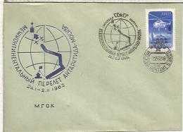 URSS ANTARTIDA ANTARCTIC MAT VUELO POLAR FLIGHT 1962 - Vuelos Polares