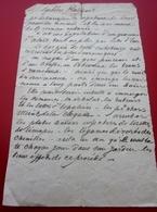 AV 1834 Ordonnance Recette Document Médical Manuscrit-Médecine-Pharmacie-Maladie-Remede Miracle-Médicament-Soin-Guérison - Manuscrits