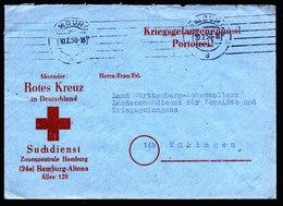A5917) POW Kriegsgefangenenbrief Hamburg 10.02.50 N. Tübingen - BRD