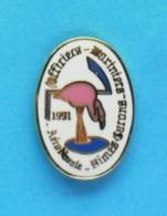 1 PIN'S //   ** AÉRONAVALE / OFFICIERS MARINIERS / NIMES GARONS /1991 ** - Militaria