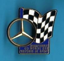 1 PIN'S //   ** MERCEDES / CHAMPIONNAT DU MONDE DES VOITURES DE SPORT ** . (Arthus Bertrand Paris) - Mercedes