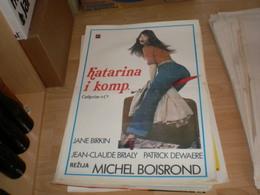 Catherine Cie Jane Birkin, Jean Claude Brialy, Patrick Dewaere - Posters