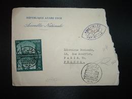 LETTRE Pour La FRANCE TP UAR 60 Paire OBL.15 11 62 NATIONAL ASSEMBLY R.P. + ASSEMBLEE NATIONALE - Emirats Arabes Unis