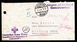 A5918) POW Kriegsgefangenenbrief Heilbronn 02.01.46 N. Bitburg - Bizone