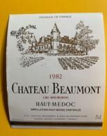 9838 - Château Beaumont 1982 Haut-Médoc - Bordeaux