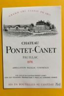 9844 - Château Pontet-Canet 1978 Pauillac - Bordeaux