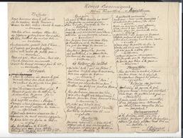 ALEXANDRE DUCROS Nîmes 1830 - 1906 Autographe Poème Banvillien Rimes économiques ( Signé - Sans Date ) - Autographes