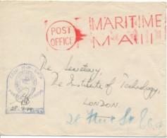 L Maritime Mail - From H.M. Ship - Censor 28-9-44 - Schiffahrt