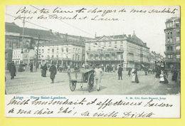 * Liège - Luik (La Wallonie) * (Edit Emile Dumont, Nr 30) Place Saint Lambert, Belle Animation, Char, Animée, TOP Café - Liege