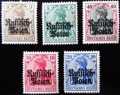 1915 Pologne Occupation Allemande N° 1/5 Neufs Traces Charnières - 1919-1939 Republik