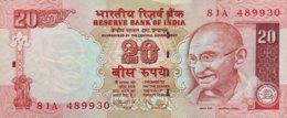 India 20 Rupees, P-96g (2009) - UNC - Indien