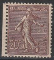 Année 1903 - N° 131 - Semeuse Lignée - 20 C. Brun-lilas - Neuf Avec Trace Charnière : Voir Scan - Cote Neuf : 190 € - 1903-60 Säerin, Untergrund Schraffiert