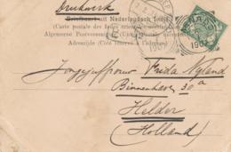 Nederlands Indië - 1907 - 2,5 Cent Cijfer Op Ansicht Van VK MENADO Als Drukwerk Naar Helder / Nederland - Nederlands-Indië