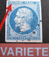 R1917/24 - NAPOLEON III N°14B - LUXE - VARIETE ➤➤➤ Tache Devant EMPIRE - 1853-1860 Napoleon III