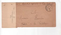 Guerre De 1914-18 -Poste Aux Armées C Bureau Frontière De Creil   1916 -( Sans étoiles) 12-8-16 - WW I