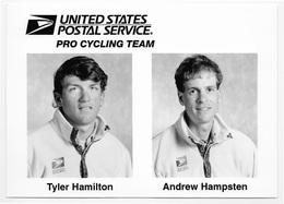 PHOTO-CARTE CYCLISME HAMILTON - HAMPSTEN TEAM US POSTAL 1996 FORMAT 12,7 X 18,8 - Cyclisme