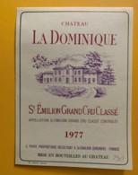 9912 - Château La Dominique 1977 Saint-Emilion - Bordeaux
