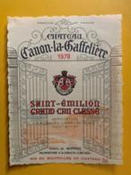 9915 - Château Canon-la-Gaffelière 1978 Saint-Emilion - Bordeaux