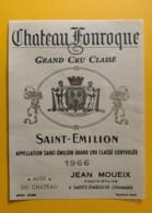 9917 - Château Fonroque 1966 Saint-Emilion - Bordeaux