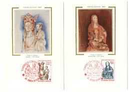 Carte Maximum 1983 -  Croix Rouge 1983 -  La Vierge à L'enfant -  YT 2295 Et 2296 - Cartes-Maximum