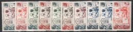 Colonie 1950 Opere Sociali Giro Completo / Complete Set */MH VF/F - Unclassified