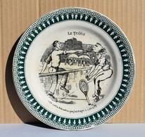 Ancienne Assiette Illustrée St Amand – Le Tennis - Saint Amand (FRA)