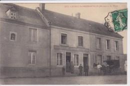 51 CAUROY Les HERMONVILLE La Place ,façade Boulangerie Patin Personnel Avec Attelage Cheval Du Boulanger Pour Livraison - France