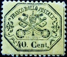 Vatican Franco Bollo Postal 40 Cent Trace Charnière - Vatican