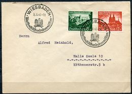"""German Empires.DR 1940 Satzbrief Mit Mi.Nr.748/49 U.gesuchten SST""""Wiesbaden-Waffenstillstandskomission """"1 Beleg - Deutschland"""