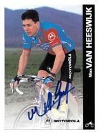 CARTE CYCLISME MAX VAN HEESWIJK SIGNEE TEAM MOTOROLA 1996 - Cyclisme