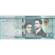 TWN - DOMINICAN REPUBLIC 192a - 500 Pesos Dominicanos 2014 Prefix AB - Signatures: Albizu & Mézquita UNC - Repubblica Dominicana