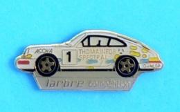 1 PIN'S //   ** PORSCHE 911 CARRERA N°1 / LARBRE COMPÉTITION / THOMAINFOR SPECTRAL / ACOVA / DUNLOP ** - Porsche
