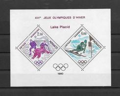 MONACO JEUX OLYMPIQUES LAKE PLACID 1980 - BLOC SPECIAL N° 12 ** MNH - LUXE ET RARE -COTE 385 EUR - Blocs