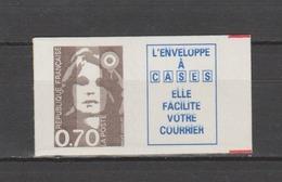 FRANCE / 1994 / Y&T N° 2873a ** Ou AA 6a : Briat 70c Adhésif Lignes Ondulées + Vignette Caractères Gras - état D'origine - Adhésifs (autocollants)