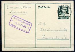 """German Empires,DR 1934 GS Nothilfe Mi.Nr.P253 Deutsche Nothilfe""""mit Tstp.""""Fahrnau """" 1 GS Used - Deutschland"""