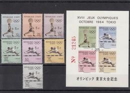 Haiti 22.04.1965 Mi # 805-11 A II  Bl 30 A II Tokyo Summer Olympics 1964 MNH OG - Verano 1964: Tokio