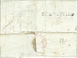 AISNE - LAC - DEB. VERVINS (44x9) Sur Lettre De Lyon (1803) Pour Sogimont Par Verviers (Belgique), Déboursé Non Signalé - Marcophilie (Lettres)