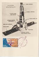 Roumanie Carte Maximum 1965 Espace Ranger 2095 - Cartes-maximum (CM)