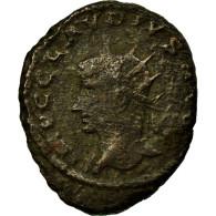 Monnaie, Claude II Le Gothique, Antoninien, Rare, B+, Billon - 5. L'Anarchie Militaire (235 à 284)